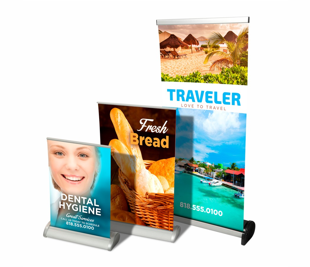 Banner Table Top Pull Up Printing Wicked Blue Owl Creative Marketing Calgary Alberta Canada