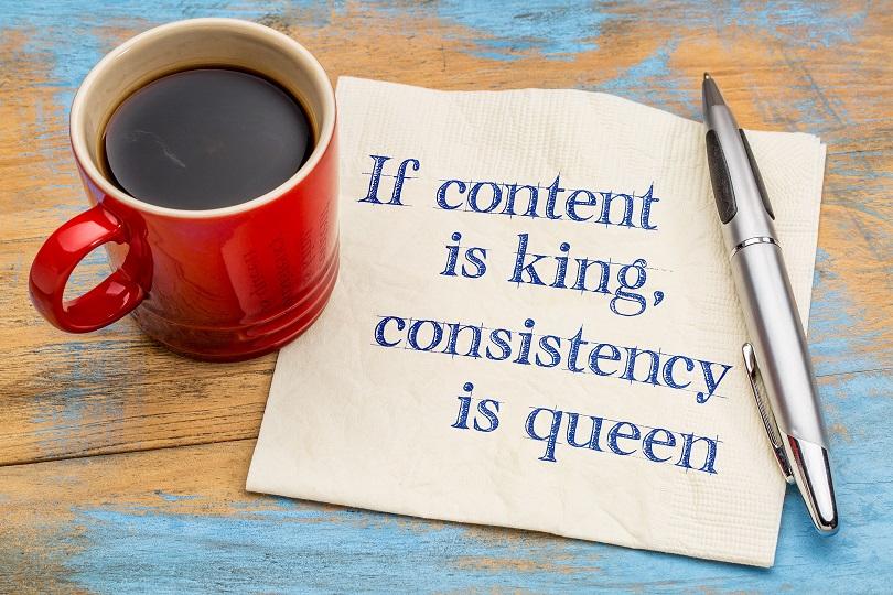Content King Consistency Queen SEO Apparel Branding Business Strategies Graphic Design Luxury Print Marketing Promo Sales Social Media Websites Calgary Alberta Canada