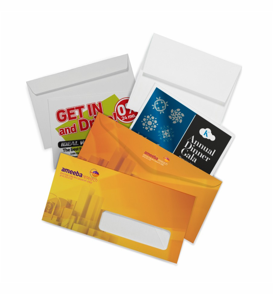 Envelopes Printing Wicked Blue Owl Creative Marketing Calgary Alberta Canada