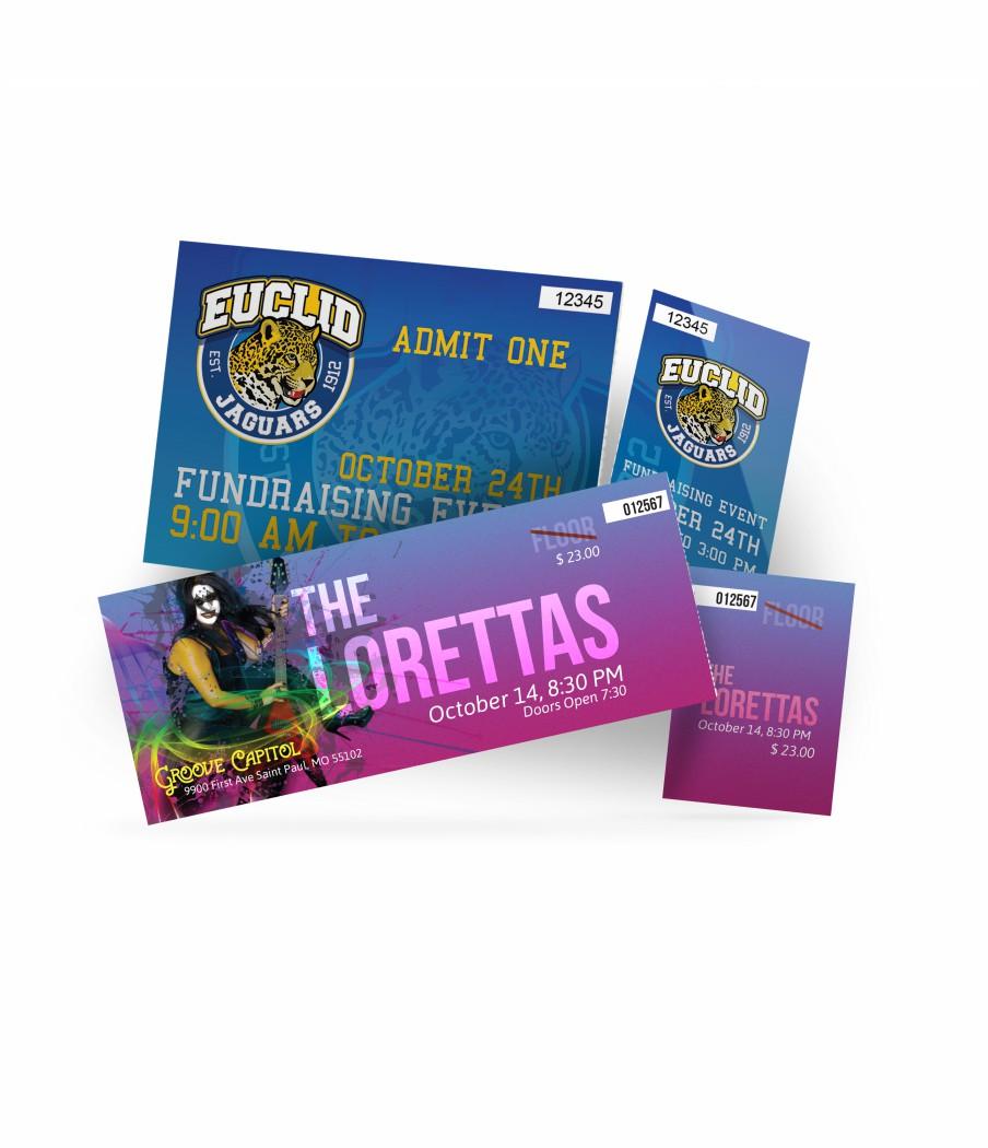 Event Tickets Printing Wicked Blue Owl Creative Marketing Calgary Alberta Canada
