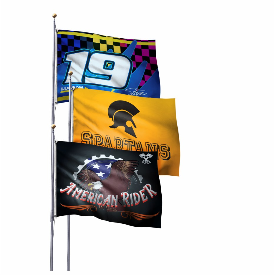 Flags Pole Printing Wicked Blue Owl Creative Marketing Calgary Alberta Canada