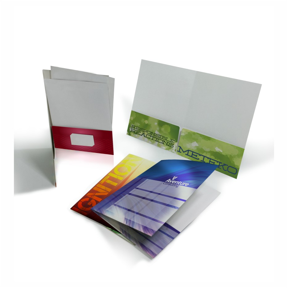 Presentation Folders Printing Wicked Blue Owl Creative Marketing Calgary Alberta Canada